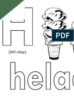 H Helado Printable