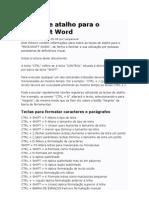 Teclas de Atalho Para o Microsoft Word