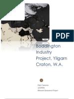 Boddington Industry Project, Yilgarn Craton, W.A.