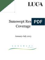 Sunswept coverage, January - July 2013