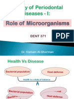 Etiology of Periodontal Diseases - I- Role of Microorganisms (1)