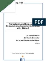 Transatlantische Renaissance? Die deutsch-amerikanischen Beziehungen unter Obama II