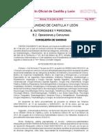 Nueva Convocatoria CT SACyL 2010 5 Vacantes Anestesiologia BOCyL 12072013