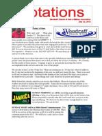 Newsletter 7.23.13