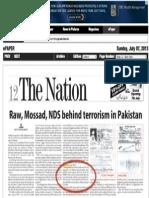 ISI-sponsored op-ed in Pakistani newspaper accuses Tarek Fatah of being a RAW agent
