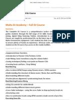 Malta DJ Academy – Full DJ Course