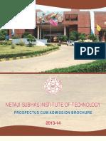 NSIT Prospectus 2013-14