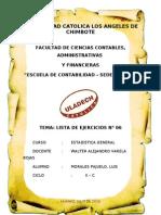 LISTA DE EJERCICIOS N° 06