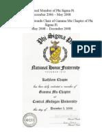 Member of Phi Sigma Pi
