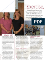 Multiple Sclerosis Exercise Therapies