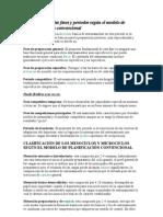 Clasificación de las fases y periodos según el modelo de planificación convencional