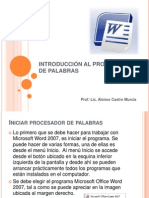 INTRODUCCIÓN AL PROCESADOR DE PALABRAS