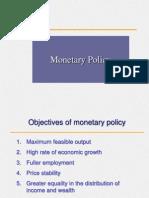 Monetary Policy Iimm