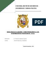 .Problemas de Los Intermediaros Financieros