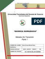 Metales de Transicion Carlos Enrique Mendez Reyes 305 2