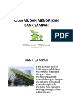 Cara Mudah Mendirikan Bank Sampah