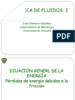 Ecuacion General de Energia Mecanica de Fluidos