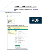 Panduan Pendaftaran UMB PT 2012