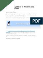 Instalar JDK y Eclipse en Windows Para Programar en Java