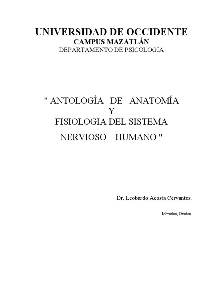 antología de Anatomía