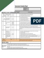 Attachment 11:Subcontractor Evaluation Report