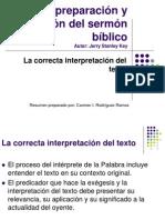 La Correcta Interpretacion Del Texto