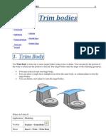 Unigraphics NX8 - Trim Bodies
