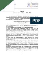 Ordin Structura an Scolar 2013 2014