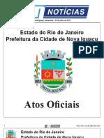 diario oficial de nova iguaçu 23 de julho de 2013.