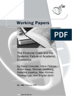 Academic Failure to See Crisis
