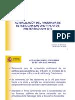 29-01-10 Presentación Programa Estabilidad CM-EN10