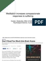 Meditation Increases Compassionate Responses to Suffering- Gaelle Desbordes