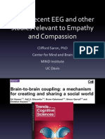 Some Recent EEG and Other Studies Relevant to Empathy & Compassion- Clifford Saron