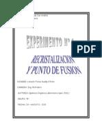 Recristalizacion y Puntos de Fusion.doc