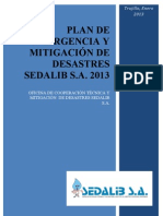 Plan Emergencia y Md Sedalib 2013