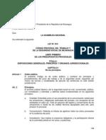 Ley No. 815 Codigo Procesal Laboral