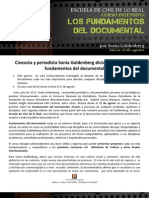 Curso Intensivo de Documental con Sonia Goldenberg