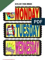 Kindergarten-Days of the week