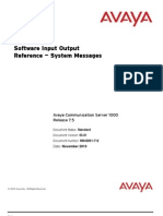 Alarms Reference System-messages