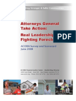 Attorney Generals Report on Taking Action in Foreclosures