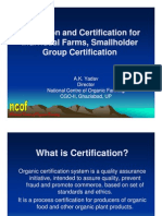 Organic Certification Under NPOP-PPT