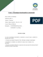 Cours_Génomique fonctionnelle et structurale_Drs GONEDELE & TIAN BI