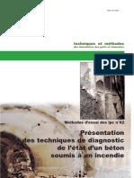 Présentation des techniques de diagnostic de l'état d'un béton soumis à un incendie