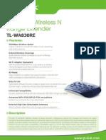 TL-WA830RE V2 Datasheet