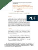 L'évolution des méthodologies dans l'enseignement du français langue étrangère depuis la méthodologie traditionnelle jusqu'à nos jours.
