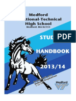 Medford Vocational Technical High School Handbook 2013-14- Updated Jan. 27, 2014