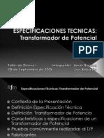 Especificaci n T Cnicas Transformador de Potencial
