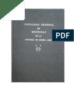 Catálogo General de mensuras de la Provincia de Buenos Aires