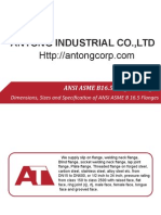 Dimensions, Sizes and Specification of ANSI ASME B 16.5 Flanges