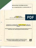 Nmx-c-404-Onncce-2005 Industria de La Construccion-bloques,Tabiques o Ladrillos y Tabicones Para Su Uso Estructural-especificaciones y Metodos de Prueba.